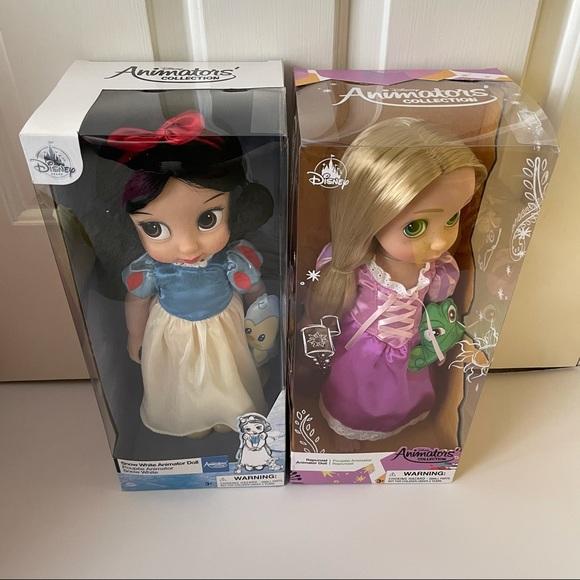 Disney Other - Disney Store Snow White & Rapunzel Animator Dolls
